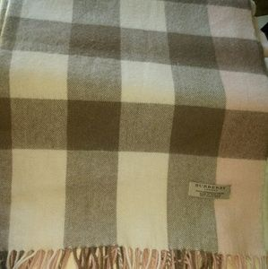 Burberry London Cashmere and Wool Scarf